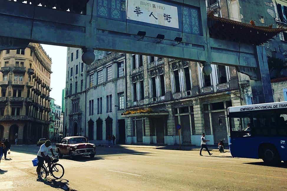 A busy street in Havana