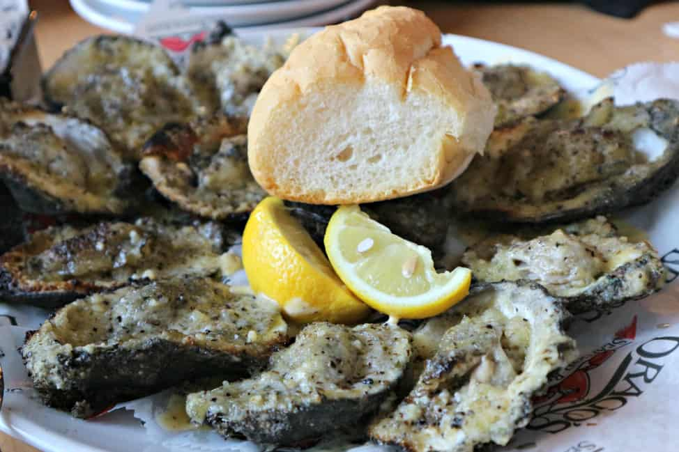 charbroiled oysters from Drago's