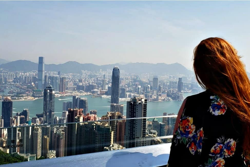Candice at Victoria Peak in Hong Kong