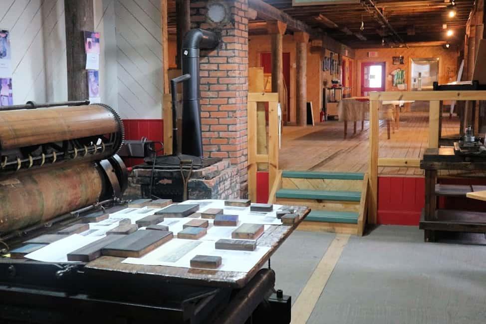 Printing press in Port Union