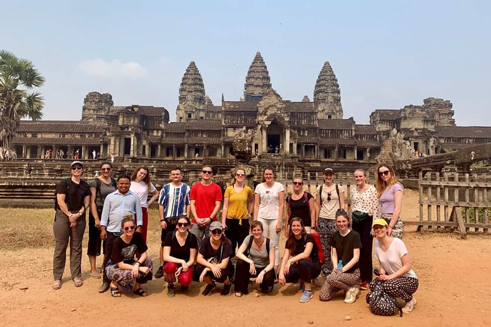 G Adventures crew at Angkor Wat