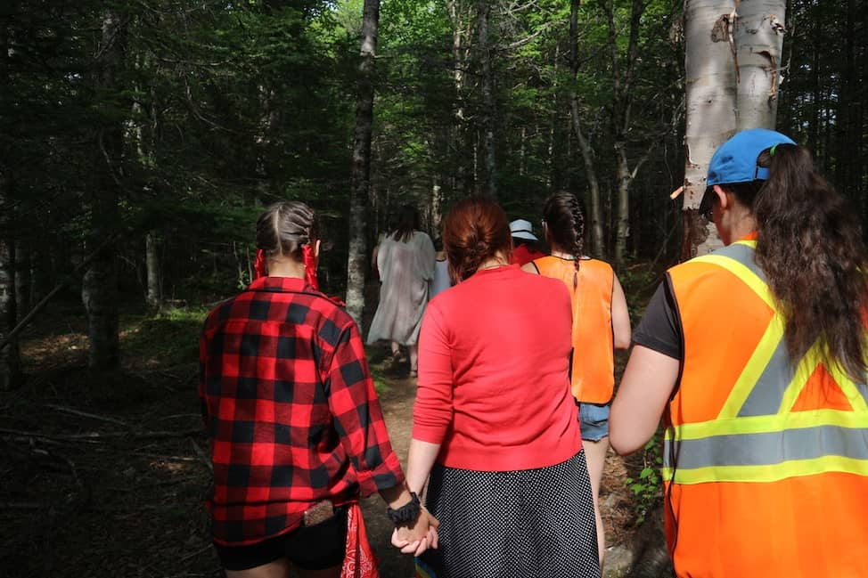Sisters of the Spirit walk in Conne River