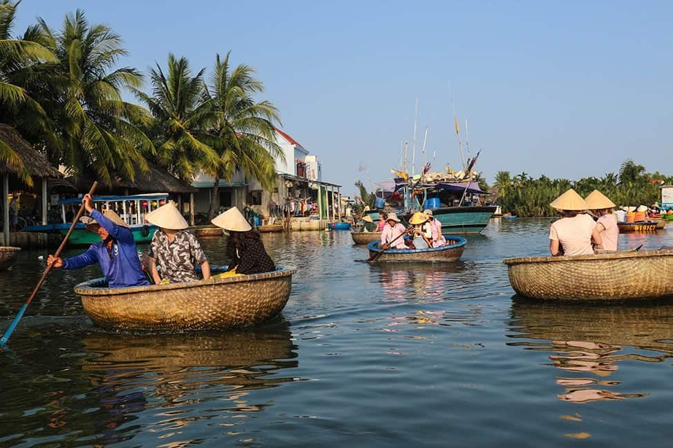 Basket boats in Hoi An